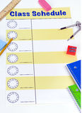 Class Schedule Blank Royalty Free Stock Images