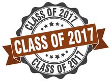 Class of 2017 seal. stamp. Class of 2017 round seal isolated on white background Stock Photos