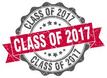 Class of 2017 seal. stamp. Class of 2017 round seal isolated on white background Royalty Free Stock Images