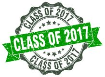 Class of 2017 seal. stamp. Class of 2017 round seal isolated on white background. class of 2017 Royalty Free Stock Photos