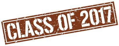 Class of 2017 stamp. Class of 2017 square grunge sign isolated on white.  class of 2017 Stock Photography