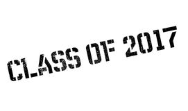 Class of 2017 stamp. Grunge design with dust scratches. Effects can be easily removed for a clean, crisp look. Color is easily changed Royalty Free Stock Images