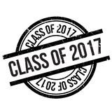 Class of 2017 stamp. Grunge design with dust scratches. Effects can be easily removed for a clean, crisp look. Color is easily changed Stock Photography