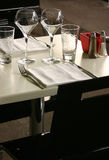 Class table. View of a classy restaurant table Royalty Free Stock Images