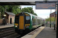 Class 172 turbostar dmu train at Kidderminster Royalty Free Stock Images