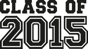 Class of 2015. University vector Royalty Free Stock Images