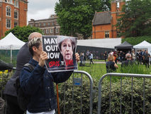 Class War protest. LONDON, UK - JUNE 09, 2017: Class War magazine protest to ask Theresa May to resign, in College Green Westminster, on the day following the Stock Images