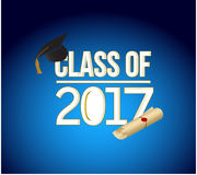 Class of 2018 white sign illustration design Royalty Free Stock Images
