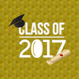 Class of 2018 white sign illustration design Royalty Free Stock Photos