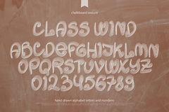 Class wind retro style alphabet letters and numbers Stock Photos