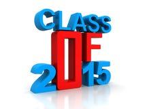 Class of 2015. Written in vintage letterpress type Royalty Free Stock Photos