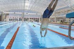 Classe 1 de natation Image libre de droits