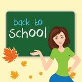 classe d'école, avec le conseil pédagogique Avec le tex Images stock