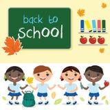 classe d'école, avec le conseil pédagogique Avec le texte b Images stock