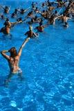 Classe d'aérobic de l'eau Photo libre de droits