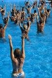 Classe d'aérobic de l'eau Image libre de droits