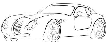 Classe d'affaires de voiture de sport de circuit Image stock