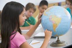 Classe da geografia da escola primária Imagem de Stock