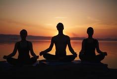 Classe da ioga Foto de Stock Royalty Free