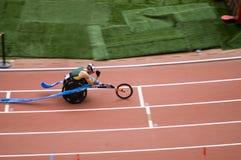 Classe da maratona T52 dos homens em jogos de Paralympic Fotografia de Stock Royalty Free