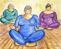 Classe da meditação Foto de Stock