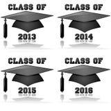 Classe de 2013 à 2016 Images stock