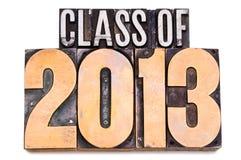 Classe de 2013 Image stock
