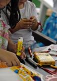 Classe de arte para miúdos Foto de Stock Royalty Free