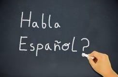 Classe de cours de langues espagnoles Photographie stock libre de droits
