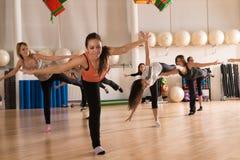 Classe de dança para mulheres Imagens de Stock Royalty Free