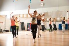 Classe de dança para mulheres Imagem de Stock Royalty Free
