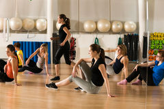 Classe de danse pour des femmes Photo stock