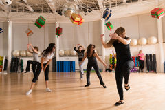 Classe de danse pour des femmes Photo libre de droits