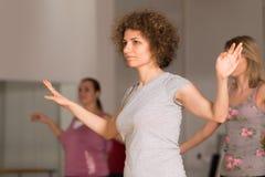 Classe de danse pour des femmes Photos stock