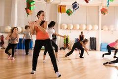 Classe de danse pour des femmes Image libre de droits