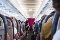 Classe de economia de Eurowiings Airbus 320 Imagens de Stock Royalty Free