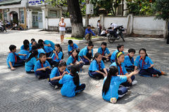 Classe de escola vietnamiana Imagem de Stock Royalty Free