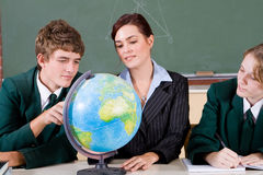 Classe de géographie Photos libres de droits