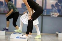 Classe de ginástica aeróbica Imagem de Stock