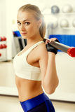 Classe de ginástica aeróbica Imagens de Stock Royalty Free
