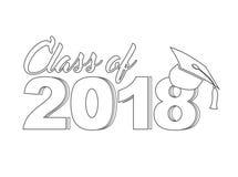 Classe 2018 de la ligne illustrateur de signe Graphique de conception Photographie stock