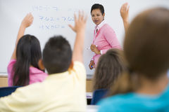 Classe de maths d'école primaire Images libres de droits