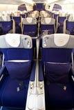 Classe de negócio 3 de Lufthansa A380 Fotos de Stock Royalty Free