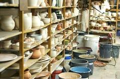 Classe de poterie Image stock