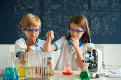 Classe de química fotografia de stock royalty free