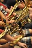 Classe de saxophone Photo libre de droits