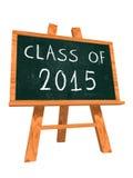 Classe de 2015 sur le tableau noir de chevalet Photo stock