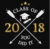 Classe de vecteur de l'insigne 2018 illustration de vecteur