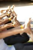 Classe de yoga Photos libres de droits