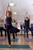 Classe de yoga photo stock